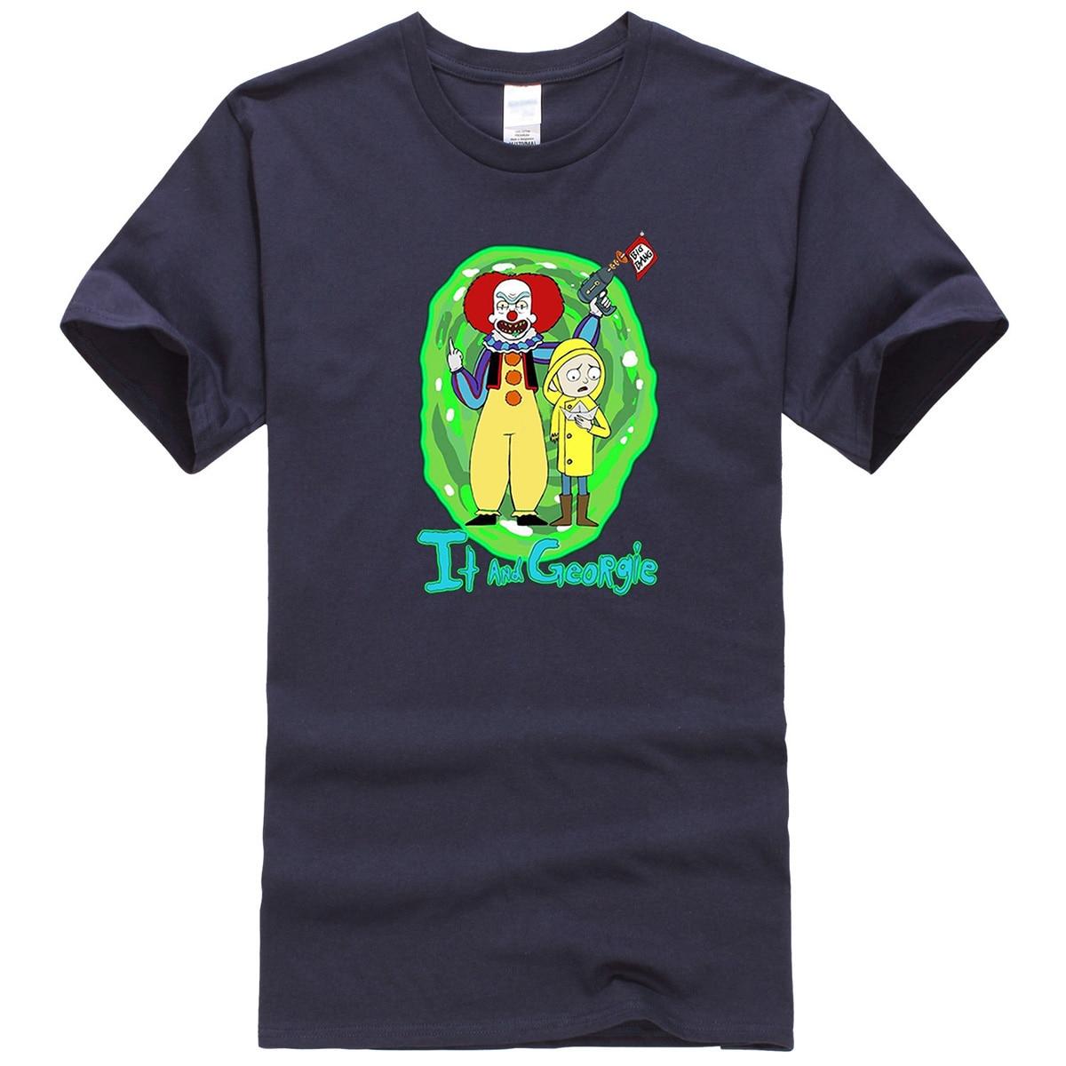 Rick And Morty Joker Funny Printed T Shirt Men Summer New 2020 Fashion Male Tops Casual Cartoon T-Shirt Hip Hop Cotton T-Shirts