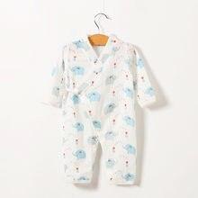 Комбинезон для новорожденных, комбинезон с цветочным рисунком, кимоно