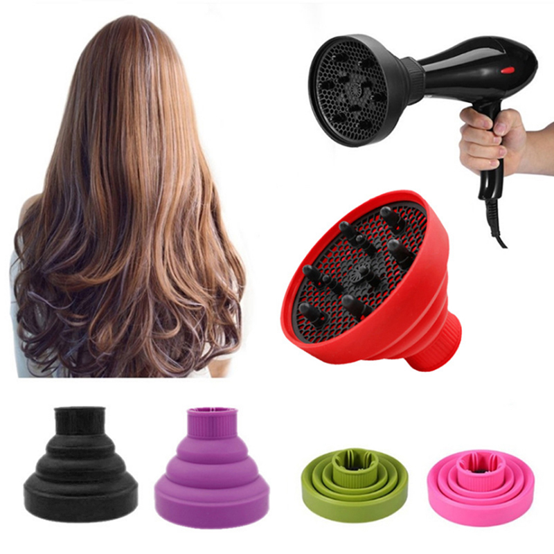 Fashion Hairdryer Diffuser Cover Silicone Foldable Hair Cover Hairdressing Salon Curly Styling Hair Care Dropshipping