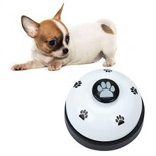 Cute Pets Feeder Call Bell Dog Ball-Shape Paws Printed Meal Feeding Educational Toy Puppy Interactive Training Tool Supply(China)