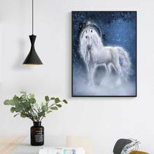 Modern Home decoration Cartoon Unicorn Posters and Prints Forest Animal Canvas Painting  Picture Wall Art for Living Room
