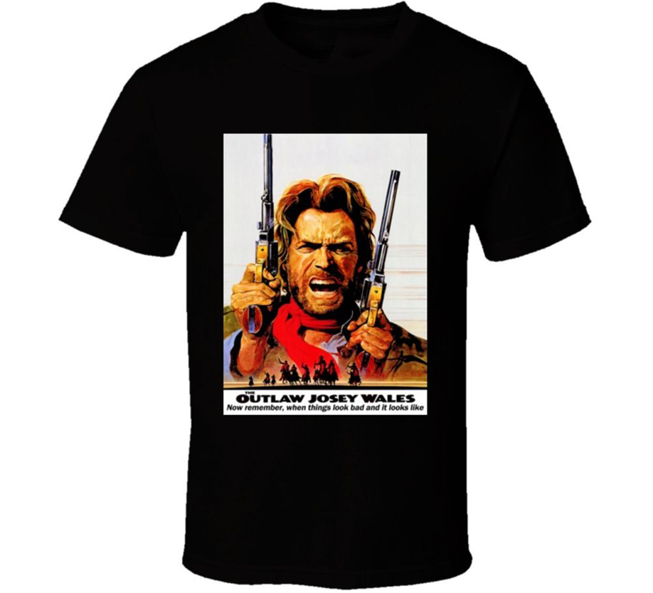 Outlaw Josey Wales Eastwood Quotes Western Cowboy Movie Eastwood T Shirt Oversized Tee Shirt image