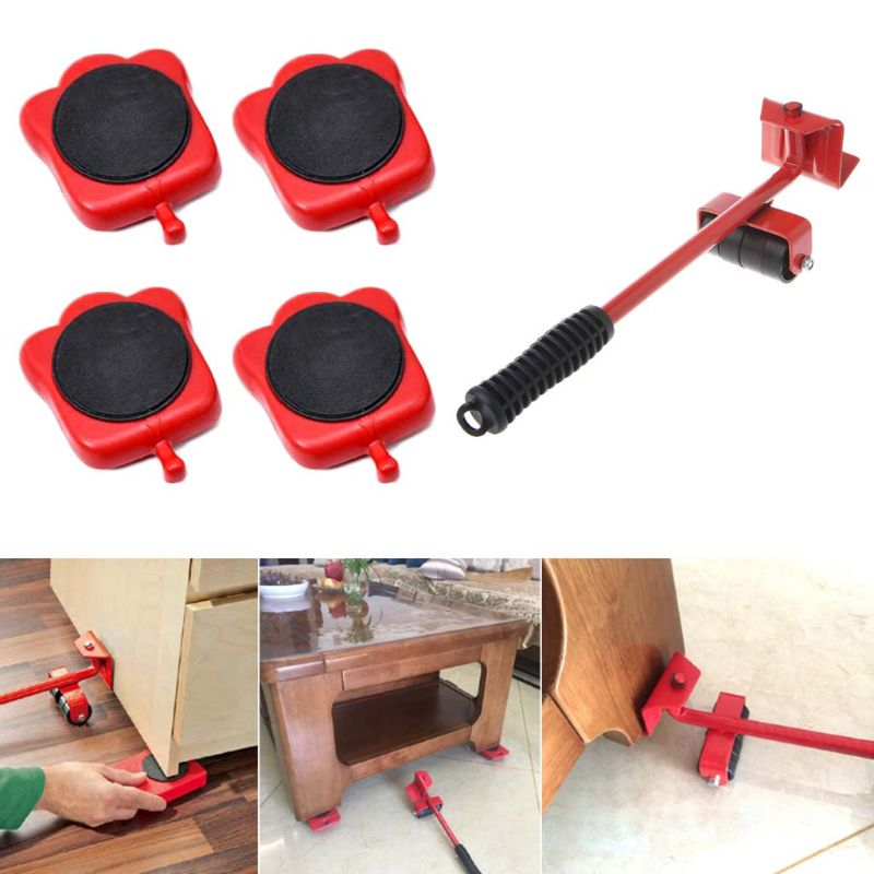 4pcs Moves Furniture Tool Transport Shifter Moving Wheel Slider Remover Roller Moving Tools Heavy Easily Lift Heavy Objects-3