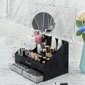 Европейская акриловая коробка для хранения косметики губная помада Пылезащитная большая емкость Косметическая коробка для ухода за кожей ...