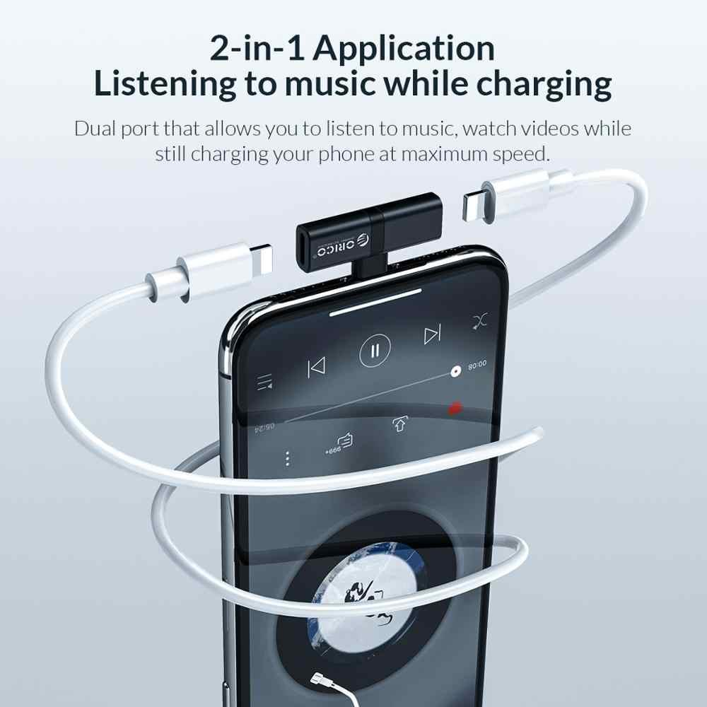 محول سماعة رأس من ORICO لهاتف iphone 7 Plus مهايئ لإضاءة الهاتف المحمول مهايئ محولات شحن الموسيقى