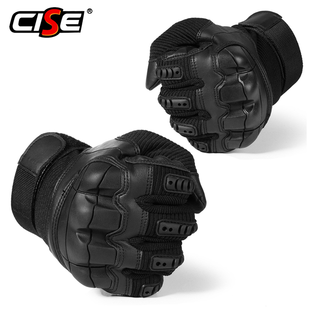 Touch Screen Leather Motorcycle Gloves Motocross Tactical Gear Moto Motorbike Biker Racing Hard Knuckle Full Finger Glove Mens 3