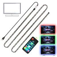 USB LED Streifen RGB + Weiß mit RF Remote Controller IP20 Flexible Streifen Licht 5050 RGBW RGBWW TV Hintergrund Lightgting 0,5 M - 5M