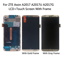 Original For ZTE Axon 7 LCD With Frame Display Touch Screen Digitizer Assembly For ZTE A2017 A2017U A2017G Axon7 Amoled Display