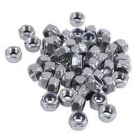 50 Pcs 304HC A2 70 Stainless Steel Hex Nylock Lock Nut M8 8mm