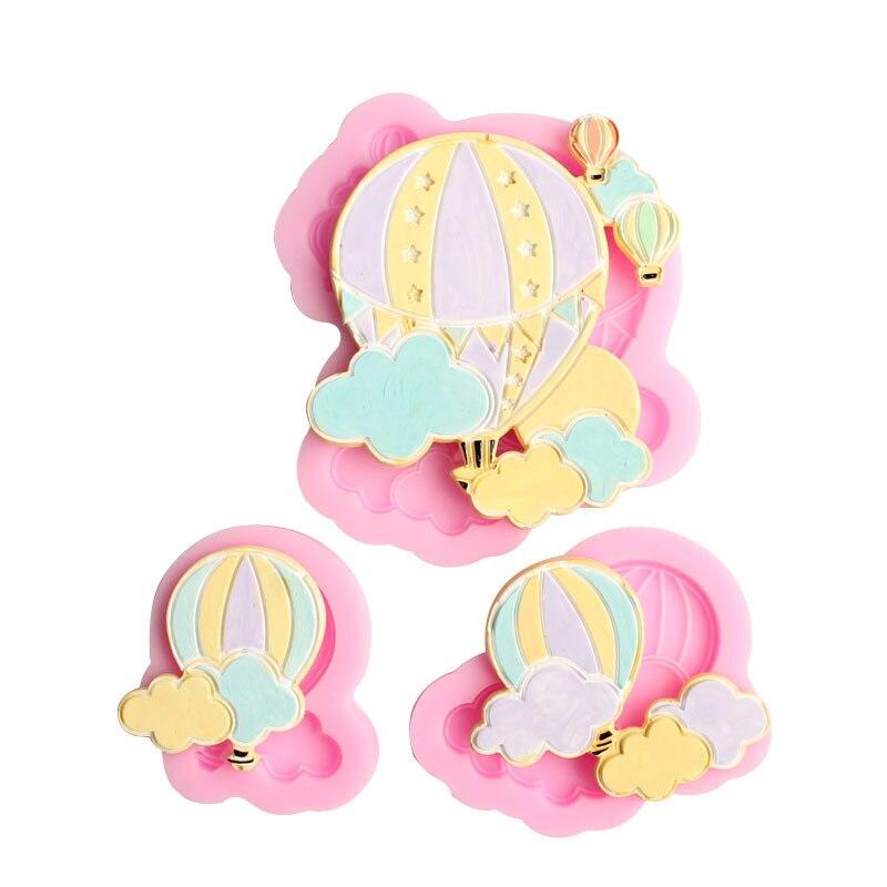 1 шт., силиконовые формы в виде воздушного шара, облаков, помадки, инструменты для украшения тортов, форма для шоколадной мастики
