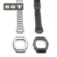 רטרו סגנון נירוסטה DW5600 DW5610 GW5600 Serie שעון להקות Watchbands רצועת שעון צמיד Fit עבור שעון סיטונאי 2019