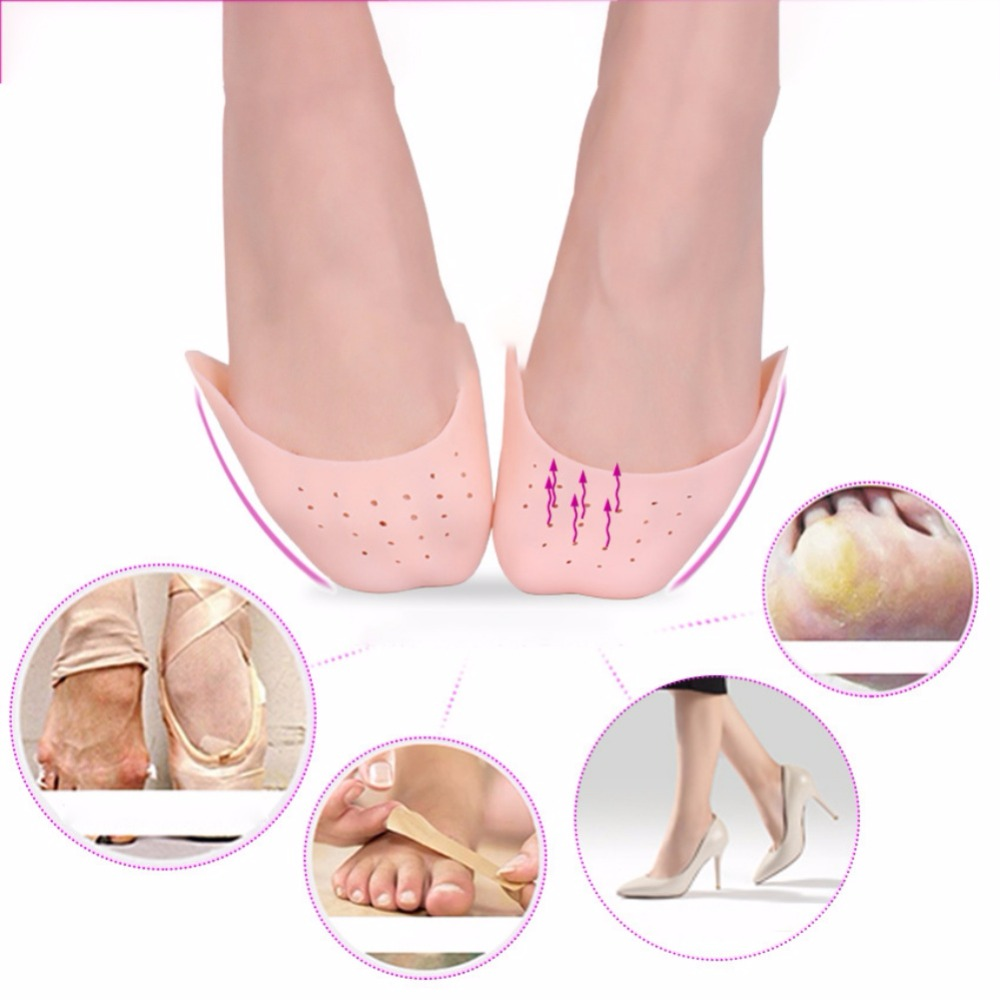1 Pair Dance Shoe Pads Ballet Pointe Toe Cover Protector Adult Soft Rubber