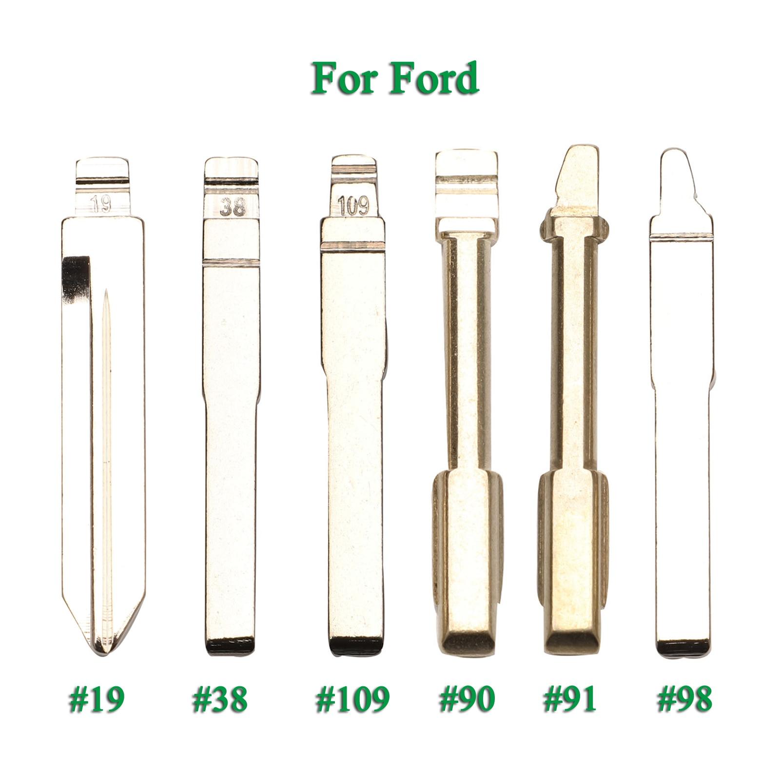Ключи 10 шт. #19 38 98 90 91 109 брелок для дистанционного ключа для Ford Focus Mondeo Fiesta Transit Galaxy HU101 FO21 FO38 Замена