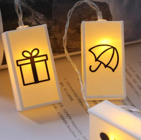 led alfabeto caixa de luz lampada corda