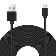 8m mikro USB uzatma kablosu hızlı şarj kablosu için Wyze kamera Pan Oculus Go güvenlik Android kamera telefon güç kablosu