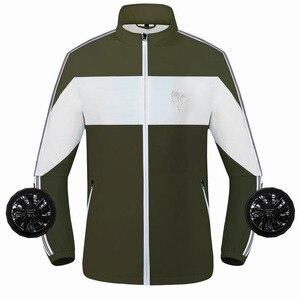 Летние охлаждающие походные куртки для мужчин и женщин, смарт-вентилятор USB, охлаждающая охотничья рыболовная куртка, уличное Спортивное во...