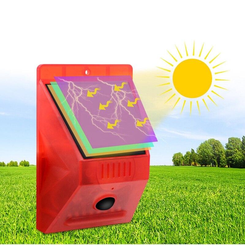 lowest price PIR Motion Sensor Solar Alarm Lamp Anti-Pet Function Yard Garden Siren With Strobe Remote Control Security Solar Power Light