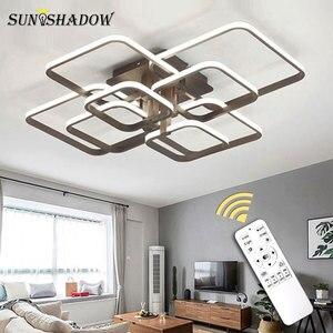 Image 2 - Moderne Led deckenleuchte Schwarz & Weiß Kronleuchter Decke Lampe LED Leuchten wohnzimmer Schlafzimmer esszimmer Küche Lüster