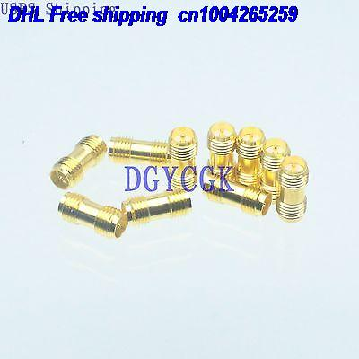 DHL 200pcs Conversion Adapter RPSMA female F to RPSMA female F for Antenna golden connector 22-ct