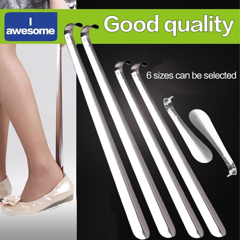 1 Pcs Professional Durable Handle Professional 16/30/42/58/70/80cm Metal Silver Color Shoe Horn Lifter Long Shoespooner Shoehorn