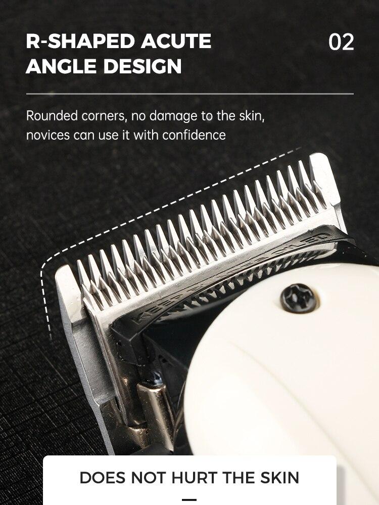 rotação recarregável sem fio aparador cabelo