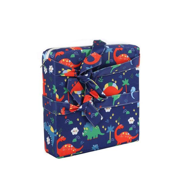 RETYLY Children Increased Chair Pad Soft Baby Children Dining Cushion Adjustable Removable Chair Booster Cushion Pram Chair Pad Blue