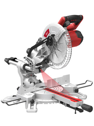 10 Inch Saw Aluminum Machine Tie Bar Miter Saw High Precision Multifunctional Wood Aluminum 45 Degree Cutting Machine