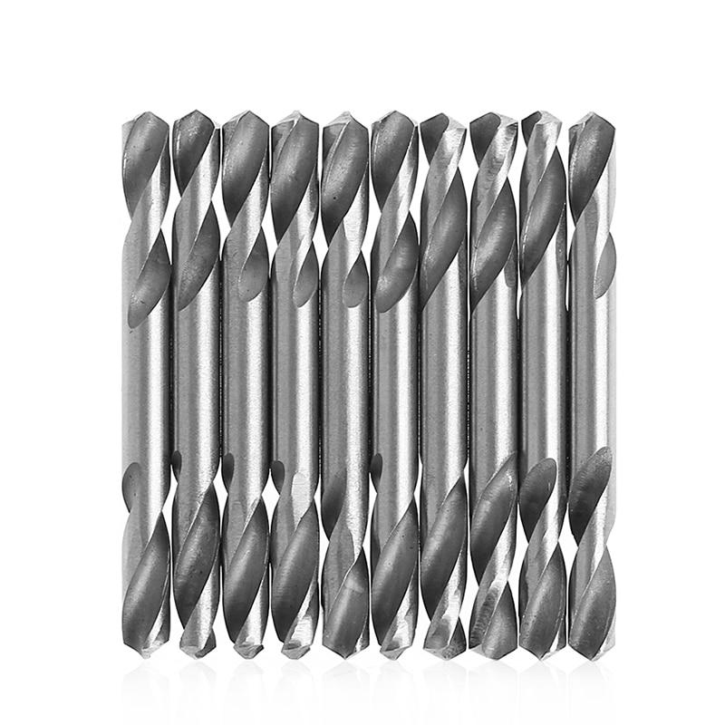 Купить с кэшбэком 10Pcs 5.2mm HSS Double Ended Spiral Torsion Drill Tools Drill Set