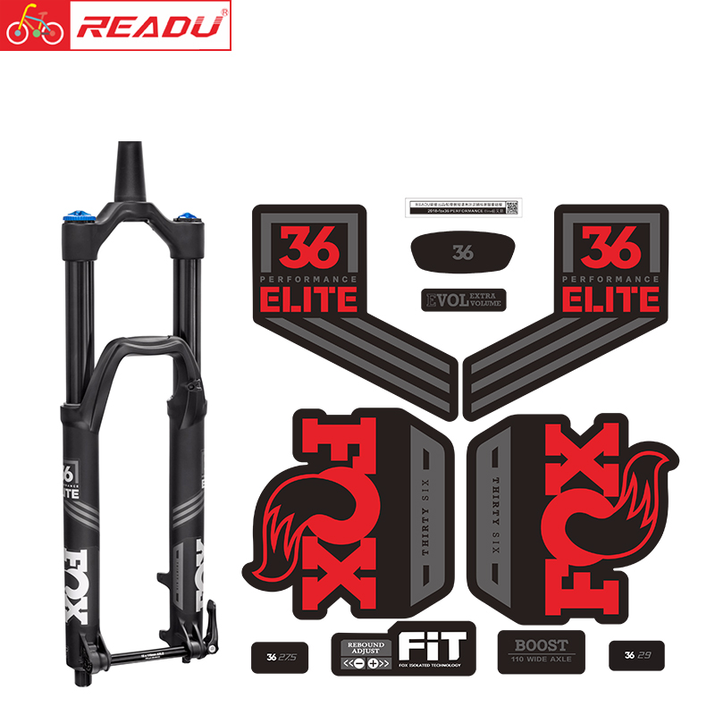 2018 Fox Float 36 PERFORMANCE Elite Fork Stickers Mtb Bike Fox 36 Front Fork Decal