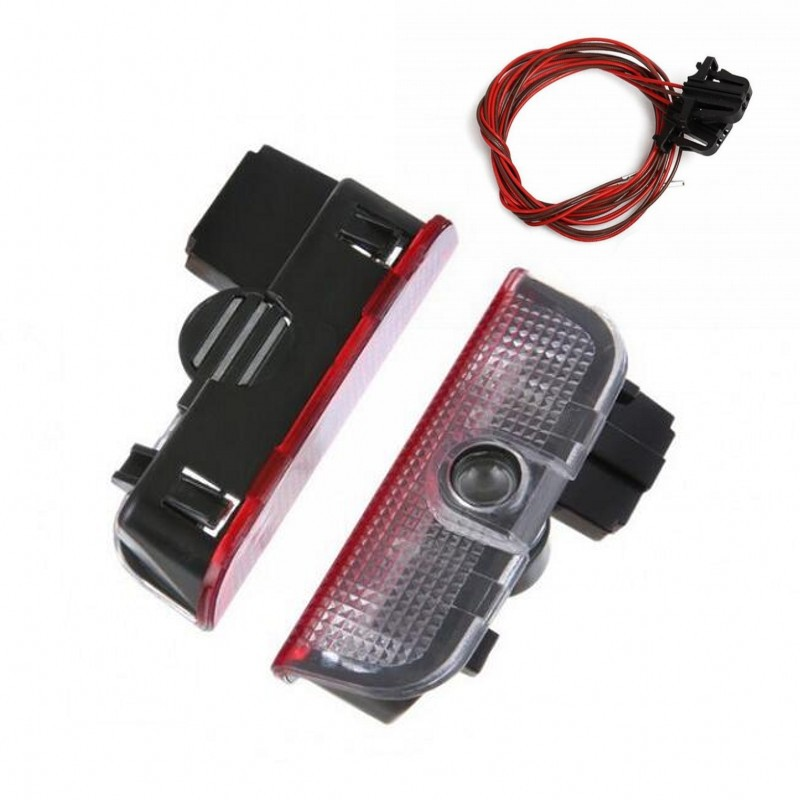 2X LED Car Door Welcome Light Projector Logo For <font><b>VW</b></font> Volkswagen Passat B6 B7 CC <font><b>Golf</b></font> 5 6 <font><b>7</b></font> Jetta MK5 MK6 Tiguan Scirocco R line image