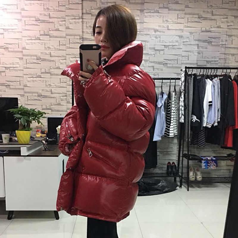 Parka winter jacket 여성 롱 코트 코튼 패딩 퍼퍼 자켓 한국어 oversize manteau femme hiver kj1017