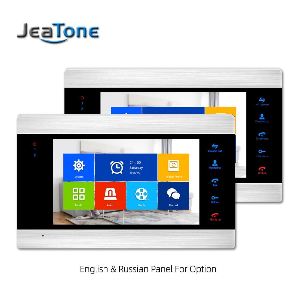 Купить с кэшбэком WiFi Smart IP Video Door Phone Intercom System Door Speaker 720P AHD Out Call Panel+7 inch High HD Monitor +720P AHD Camera