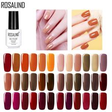 ROSALIND Gel Nail Polish All For Manicure 7ml UV Lacquers Semi Permanent Nail Polish Base Coat For Nail Art Gel Polish Varnish(China)