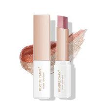 Waterproof Bling Double Color Gradient Velvet Eye Makeup Shadow Stick Mix Glitter Matte Eyeshadow Pallete Pen Dual Color Shadow