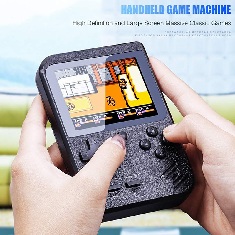 Hot Retro Video Game Console Player 400 In 1 Games Mini Gameboy Handheld Game Player 3.0 Inch Box TV Console Gift for Kids