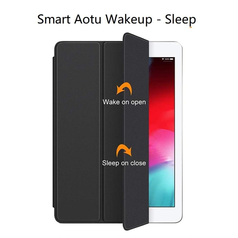 Utrl Slim Trifold Coque for iPad 7th iPad 10 2 Case Smart A2200 A2198 A2233 Auto