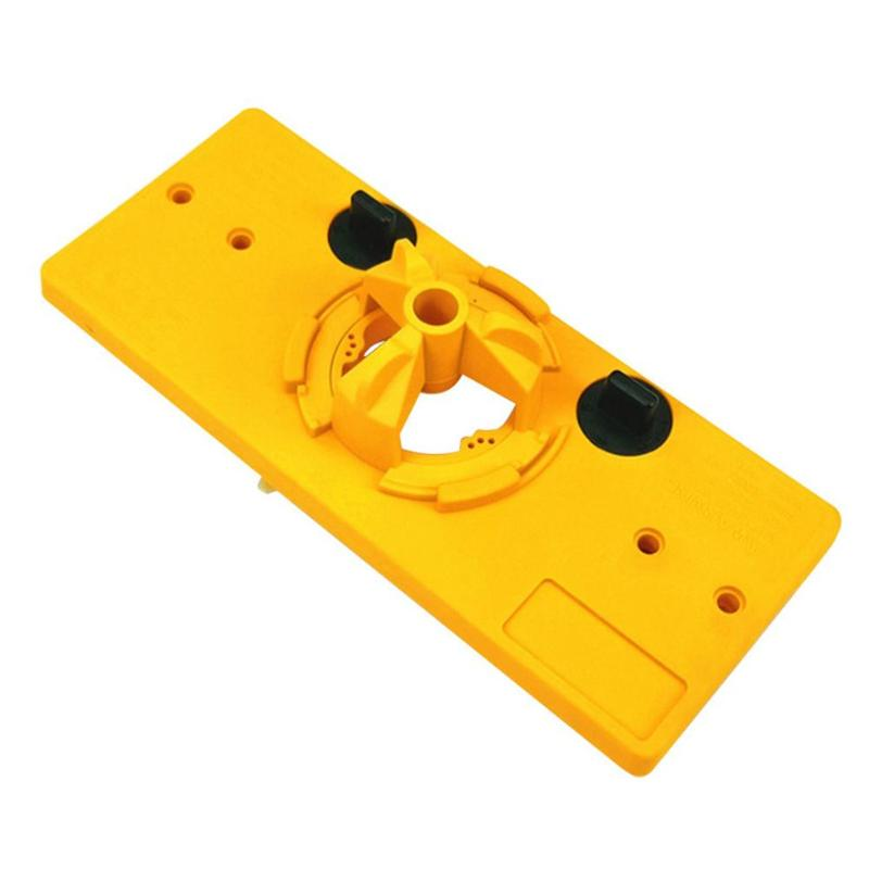 7pcs Hole Template Woodworking Hinge Boring Jig Drill Guide Set Portable Easy Operate Engineering Plastic Door Tool Kit