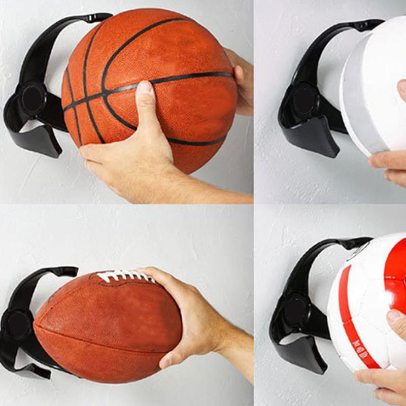Black Ball Claw Basketball Holder Plastic Stand Support Football Soccer Rugby Standing Supplies Fitness Training Accessories