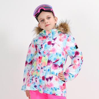 SMN Kids Boys Girls kurtka snowboardowa zimowa wodoodporna oddychająca odporna na wiatr ciepła kurtka snowboardowa Outdoor Sport kurtka narciarska tanie i dobre opinie NoEnName_Null Dziewczyny Poliester Jazda na snowboardzie Kurtki Pasuje prawda na wymiar weź swój normalny rozmiar Wiatroszczelna