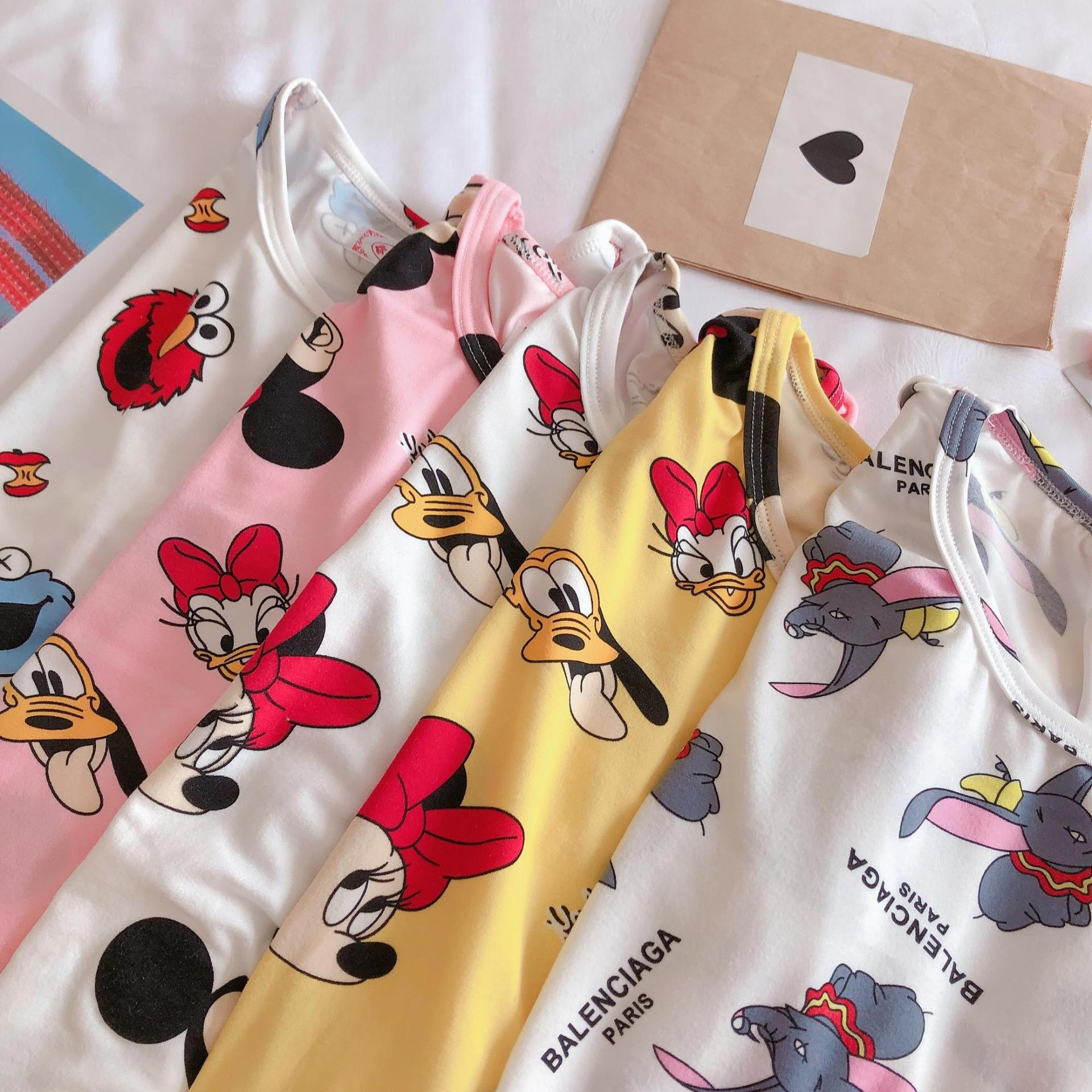 Sesame Street Pajamas Women's Autumn Korean-style Hot Selling Cartoon Dumbo Long Sleeve Trousers Storage Bag Qmilch Home Wear