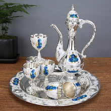 Elegant Wine Set European and American Style Palace Style Home Furnishings Restaurant Hotel Classic Creative Wine Cup Home Bars
