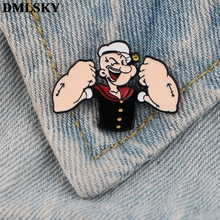 DMLSKY Cartoon Funny Pins Enamel and Brooches Women Men Lapel Pin Backpack Badge Tie Hat Jewelry M3748
