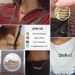 Image 5 - Personalizado iced para fora cursive nome colar letras iniciais zircônia placa de identificação colar hippop cubana chain jewelry para homens