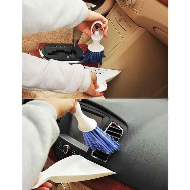 רכב המפרט ניקוי מברשת יעה לשקע אוויר Vent ניקוי כלים אוטומטי אבק מברשת אבזרים