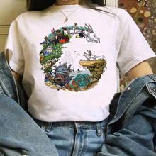 Femminile de la camiseta Del Fumetto di camiseta Totoro Mille e camiseta de Chihiro estampada Studio Ghibli Maglietta anime Giapponese grafic