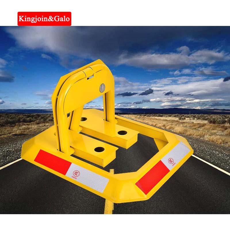 High Quality Octagon Yellow Heavy Resistance Strong Anti-Pressure Manual Car Parking Barrier Blocker Lock For Parking Lot Space