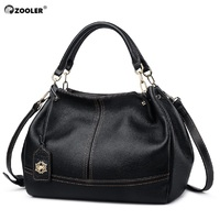 High quality genuine leather bags women ZOOLER luxury leather handbags women bags soft cow shoulder bag hot bolsa feminina#8160
