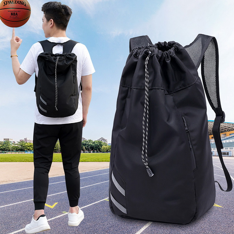 Puimentiua Men's Sports Basketball Backpack School Bags For Teenager Boys Soccer Ball  Laptop Bag Football Net Fitness Gym Bag