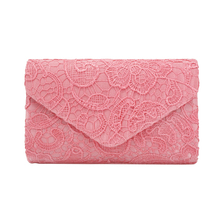 the best sale women evening bags factory price lace flower pattern envelope lady clutch bag