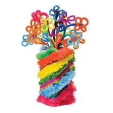 100 шт разноцветная плюшевая железная проволока, гибкие флокированные палочки для рукоделия, очиститель труб, креативные Развивающие игрушки для детей, сделай сам, вечерние игрушки